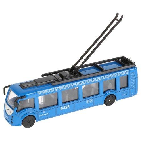 Купить Троллейбус ТЕХНОПАРК SB-18-10WB 15 см синий, Машинки и техника