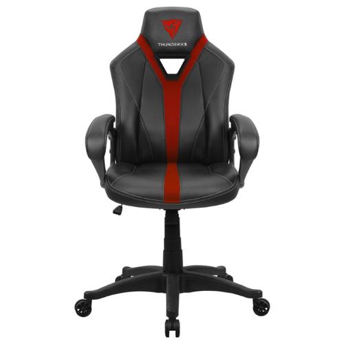 Компьютерное кресло ThunderX3 YC1 игровое, обивка: искусственная кожа, цвет: черно-красный кресло компьютерное игровое thunderx3 tgc12 bg черный зеленый 4710700959572