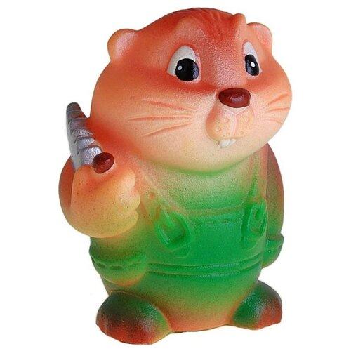 Купить Игрушка для ванной ОГОНЁК Бобр лесоруб (С-362) коричневый/зеленый, Игрушки для ванной