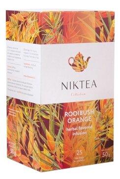 Чайный напиток травяной Niktea Rooibush orange в пакетиках