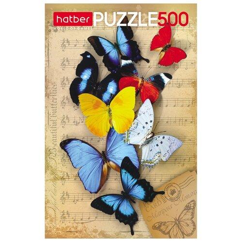 Купить Пазл Hatber Бабочки (500ПЗ2_10877), 500 дет., Пазлы