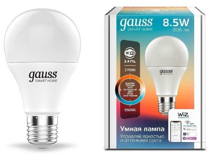Лампа светодиодная gauss 1130112, E27, A60, 8.5Вт фото 1
