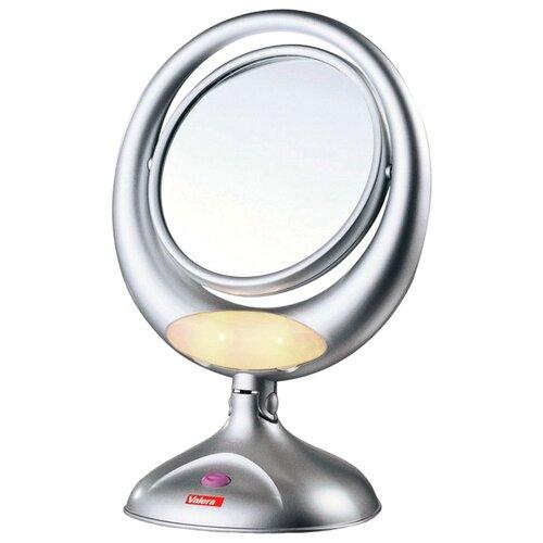 Зеркало косметическое настольное Valera 618.01 с подсветкой серебристый