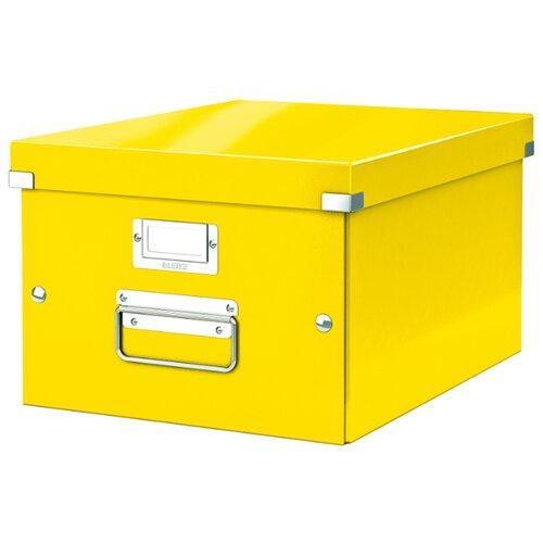 Купить Leitz Короб архивный Click & store WOW M А4, ламинированный картон желтый, Файлы и папки