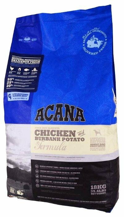 Корм для собак Acana Classics для здоровья кожи и шерсти, курица с картофелем 18 кг