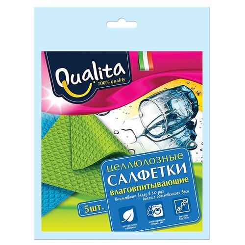 Салфетка влаговпитывающая Qualita 5 шт салфетка для уборки qualita 18 20 см 5 шт