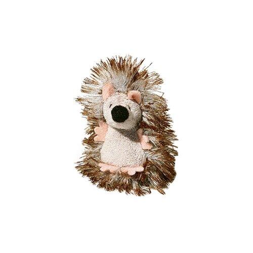 Игрушка для кошек GiGwi Cat Toys Ежик с погремушкой (75029) белый/коричневый/бежевый дразнилка для кошек gigwi feather teaser с ручкой 75429 коричневый черный