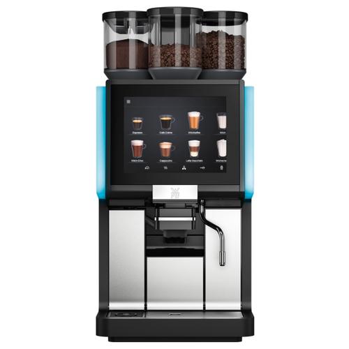 Кофемашина WMF 1500 S 03.1900.6010, черный/серебристый/голубой