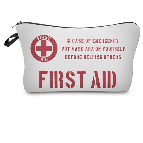 Косметичка HOMSU First Aid (PK-K-68), белый/красный косметичка homsu homsu mp002xw0go28