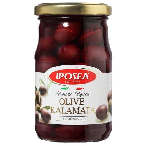 Iposea Оливки Каламата с косточкой, стеклянная банка 280 г