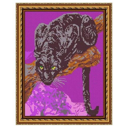 Светлица Набор для вышивания бисером Пантера 30 х 38 см, бисер Чехия (566П)