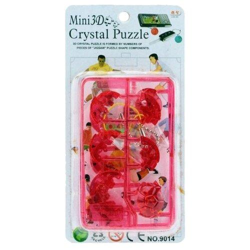 Брелок-пазл Lign Zhi Mini 3D Crystal, 6 дет. красный