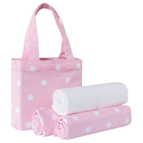 Guten Morgen набор полотенец в сумке Горох кухонное 45х70 см розовый
