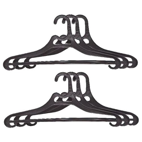 Вешалка ПОЛИМЕРБЫТ Набор для верхней одежды 52-54 черный вешалка для верхней одежды полимербыт 52 54