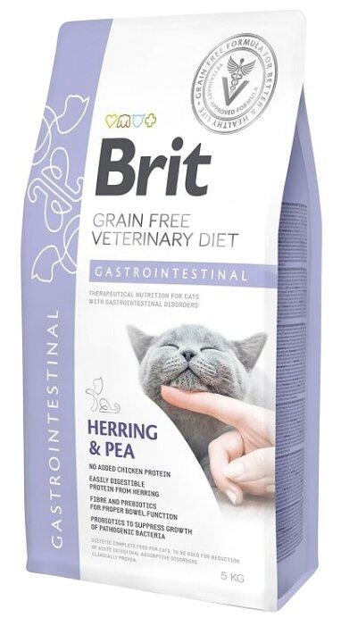 Корм для кошек Brit Veterinary Diet при проблемах с ЖКТ, беззерновой, с сельдью и с горошком