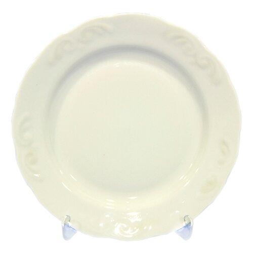 Добрушский фарфоровый завод Тарелка мелкая Надежда Белое изделие 240 мм добрушский фарфоровый завод тарелка мелкая надежда розовая нежность 200 мм