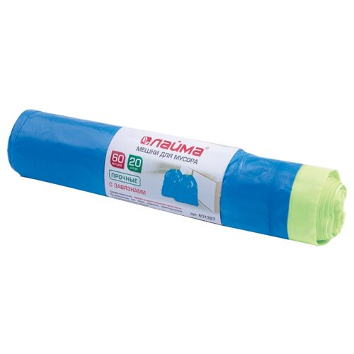 Мешки для мусора Лайма 601397 60 л (20 шт.) синий
