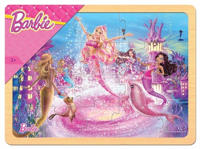 Рамка-вкладыш Step puzzle Mattel Барби (89146), 20 дет.