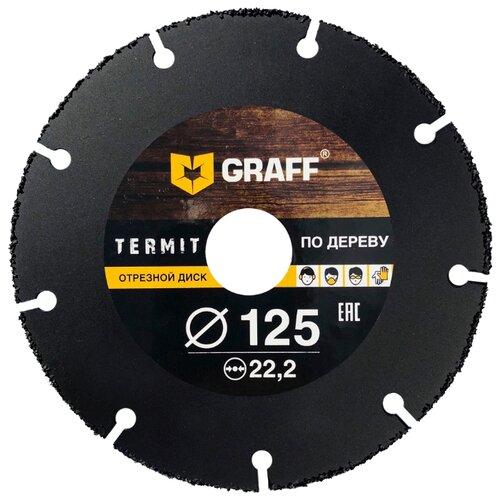 Диск отрезной 125x2x22.2 GRAFF Termit 125 1 шт. диск graff termit 125 отрезной по дереву для ушм 125x22 23mm