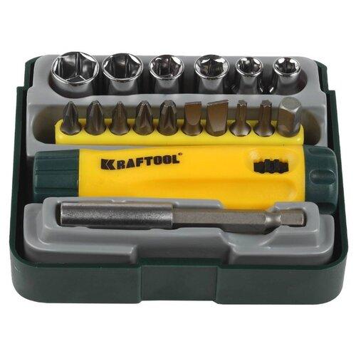 Фото - Набор инструментов Kraftool (18 предм.) 26143-H18 зеленый/желтый набор отверток и инструментов kraftool x drive electro высоковольтных до 1000 в 18 предметов 220092 h18