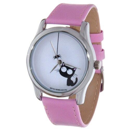 Наручные часы Mitya Veselkov Кошка и паучок (розовый) карманные часы mitya veselkov