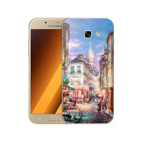 Чехол Gosso 542707 для Samsung Galaxy A5 (2017) пейзаж Монмартра чехол для samsung galaxy a5 2017 130816