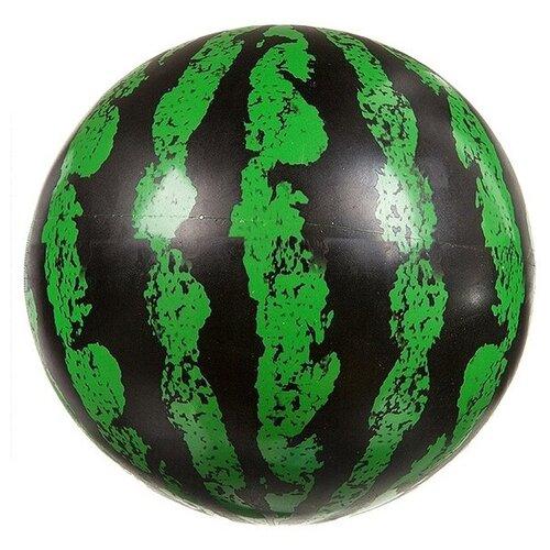 Мяч Гратвест Арбуз, 22 см, зеленый/черный мяч гратвест бегемот загорает c20408 22 см синий