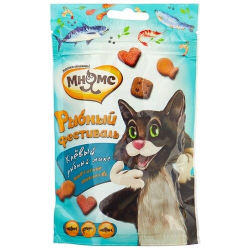 Лакомство для кошек Мнямс Микс Рыбный фестиваль, 50гЛакомства для кошек<br>