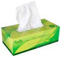 Салфетки Hearttex с ароматом зеленого чая в коробке, 21 х 20 100 шт.