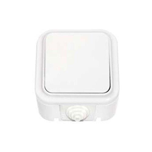 Переключатель (с 2-х мест)выключатель / переключатель BYLECTRICA Пралеска Аква А610-868,10А, белыйРозетки, выключатели и рамки<br>
