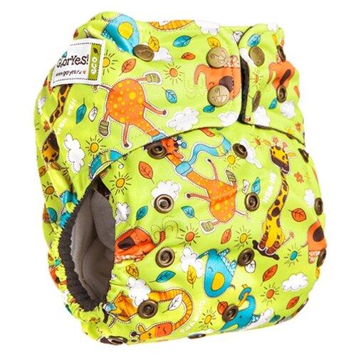 Купить GlorYes! подгузники Premium (3-18 кг) 1 шт. жирафы, Подгузники