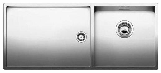 Врезная кухонная мойка Blanco Claron 400/550-T-U 101.5х44см нержавеющая сталь