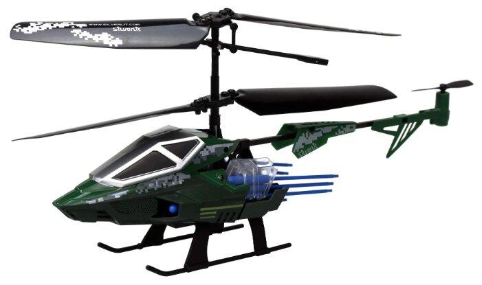 Вертолет Silverlit Heli Sniper 2 (84781) 15 см черный/зеленый фото 1