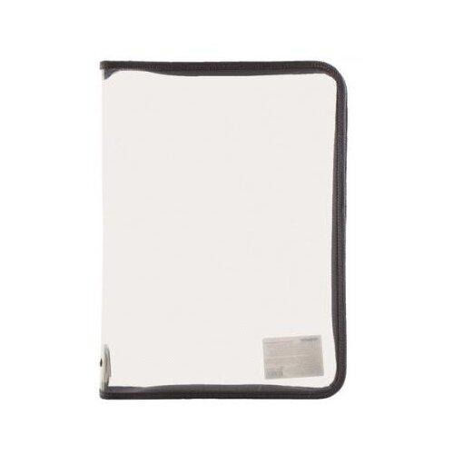 Купить Пифагор Папка для тетрадей А4, на молнии, прозрачная серый, Файлы и папки