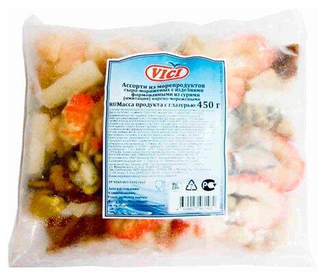 Vici Ассорти из морепродуктов сыро-мороженных из сурими 450 г