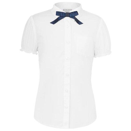 Блузка Gulliver размер 170, белый платье oodji ultra цвет красный белый 14001071 13 46148 4512s размер xs 42 170