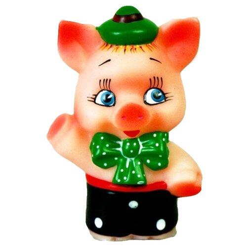 Купить Игрушка для ванной Кудесники Поросенок Ниф-Ниф (СИ-104) черный/зеленый, Игрушки для ванной