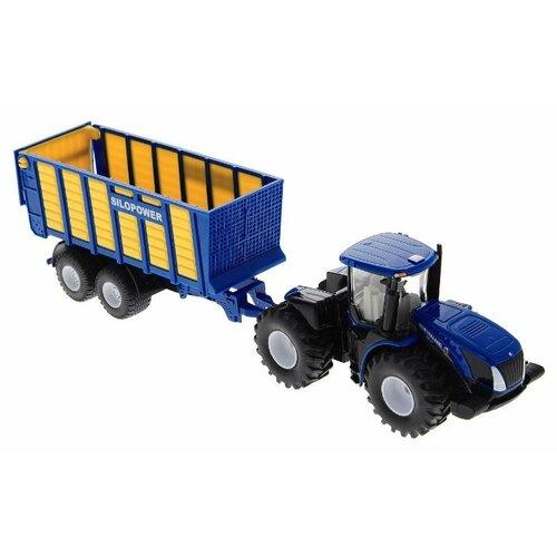 Купить Трактор Siku с прицепом (1947) 1:50 33 см синий/черный, Машинки и техника