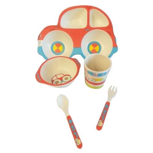 Комплект посуды Baby Ryan Авто (BF005) красный