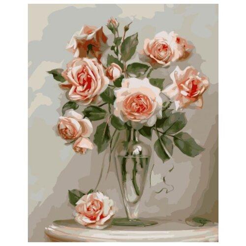 Molly Картина по номерам Розы в вазе 40х50 см (KH0087/1)Картины по номерам и контурам<br>