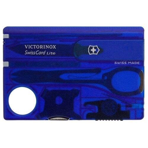 Швейцарская карта VICTORINOX SwissCard Lite (13 функций) синий швейцарская карта victorinox swisscard lite 0 7300 t 13 функций полупрозрачный красный