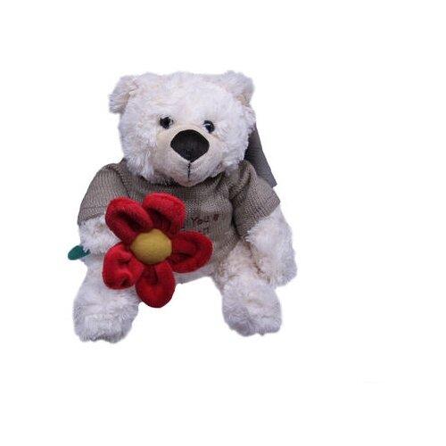 Мягкая игрушка Magic Bear Toys Мишка Этан в свитере с цветком 23 смМягкие игрушки<br>