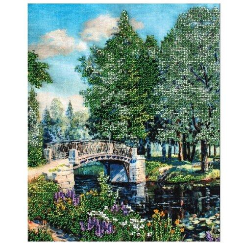 Белоснежка Набор для вышивания бисером Мостик в парке 24 x 30 см (9100-CM)