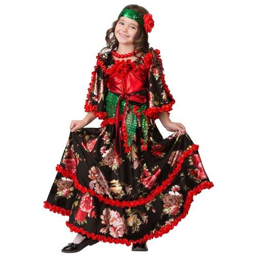 Купить Костюм Батик Цыганка Аза (1904), черный/красный, размер 146, Карнавальные костюмы