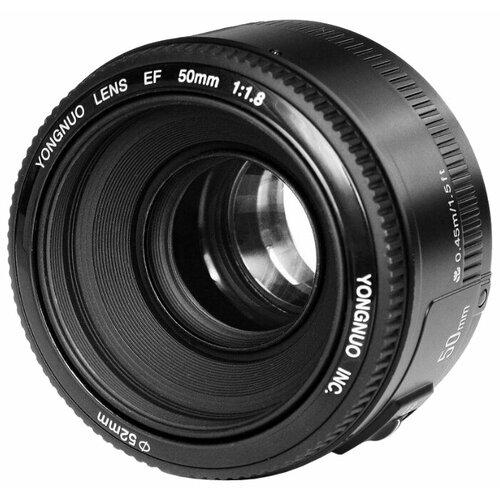 Фото - Объектив YongNuo AF 50mm f/1.8 Nikon F объектив nikon 50mm f 1 8 af s nikon f [jaa015da]