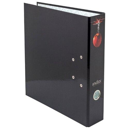 Купить Index Папка-регистратор 80 мм, ламинированная красное яблоко, Файлы и папки