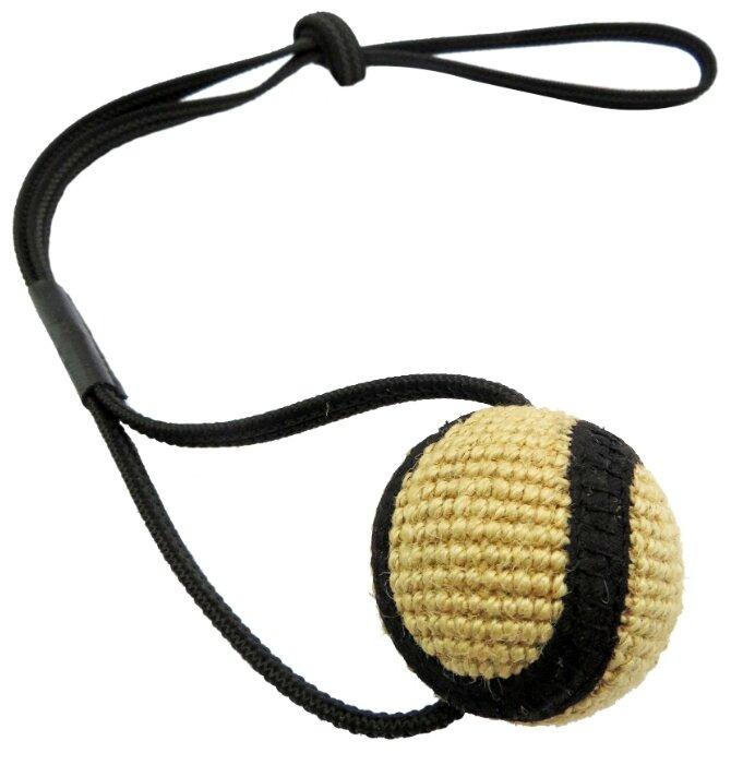 Мячик для собак Ankur джутовый на веревке 65х6 см