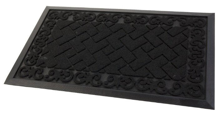 Придверный коврик Eco Floor Тетрис, размер: 0.75х0.45 м, черный