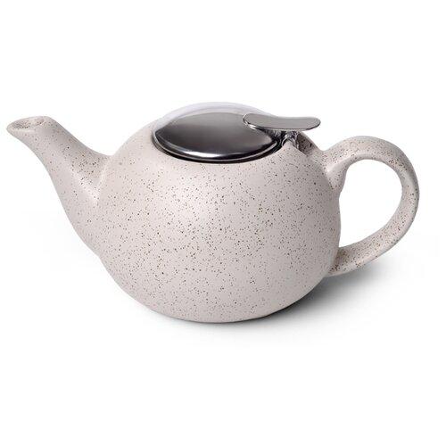 Fissman Заварочный чайник с ситечком 800 мл, песочный белый недорого