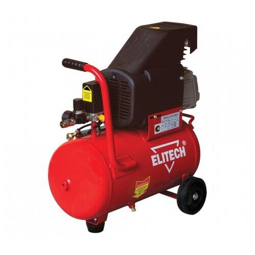Компрессор масляный ELITECH КПМ 200/24, 24 л, 1.5 кВт компрессор масляный elitech кпм 360 25 25 л 2 2 квт